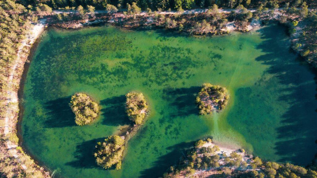 Dronebillede Schoubyes Sø